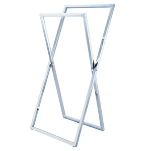 Edenscape Pedestal X Style Steel Construction Towel Rack