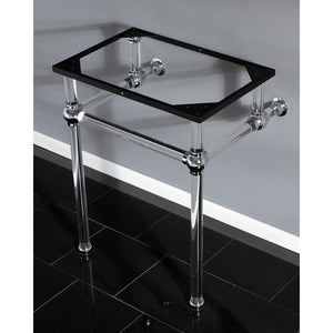Templeton Console Basin Holder with Acrylic Pedestal