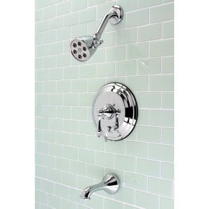 Single-Handle 3-Hole Wall Mount Tub and Shower Faucet