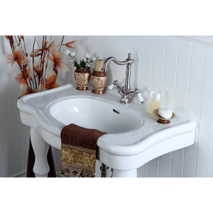 "Imperial 32"" Basin Console for Mono Mount with Pedestal"