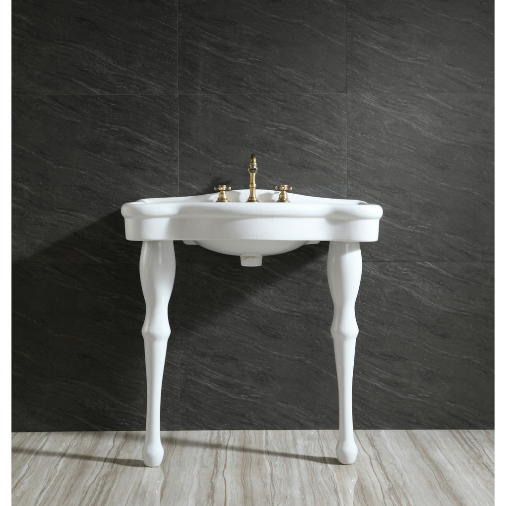 "Imperial 32"" Basin Console for 8"" Centers Mount with Pedestal"