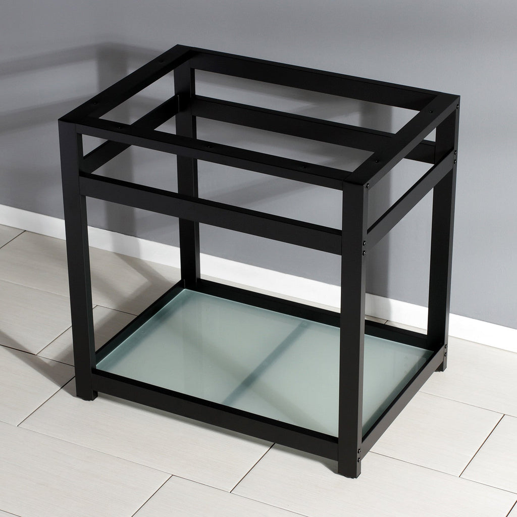 Kingston Commercial Steel Console Sink Base with Glass Shelf