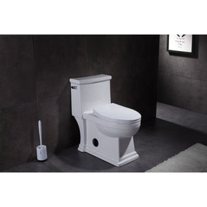 Victorian Single-Flush 1.28 GPF Elongated One-Piece Toilet