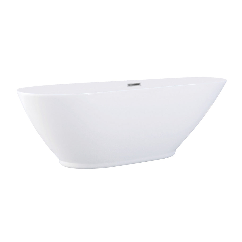 "Aqua Eden 69"" Acrylic Freestanding Oval Tub with Drain"