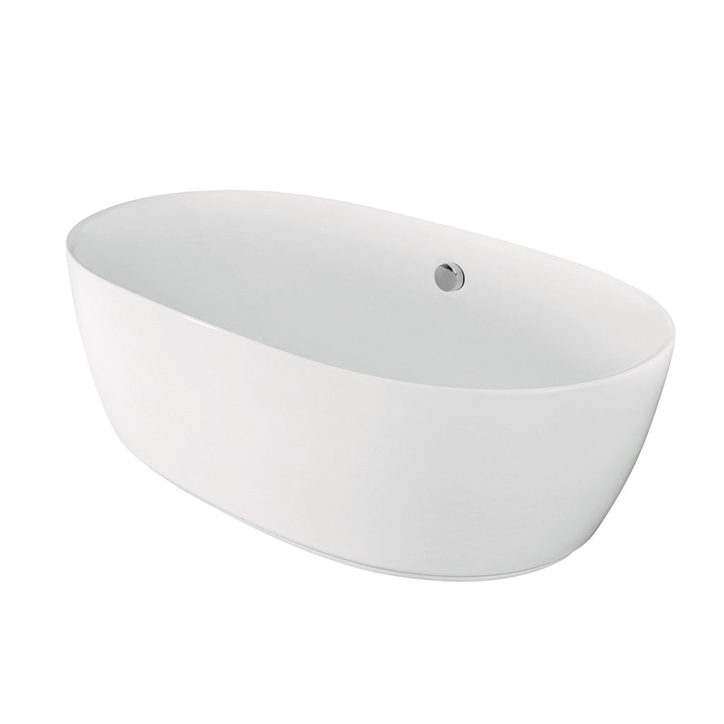 "Aqua Eden 71"" Acrylic Freestanding Oval Tub with Drain"