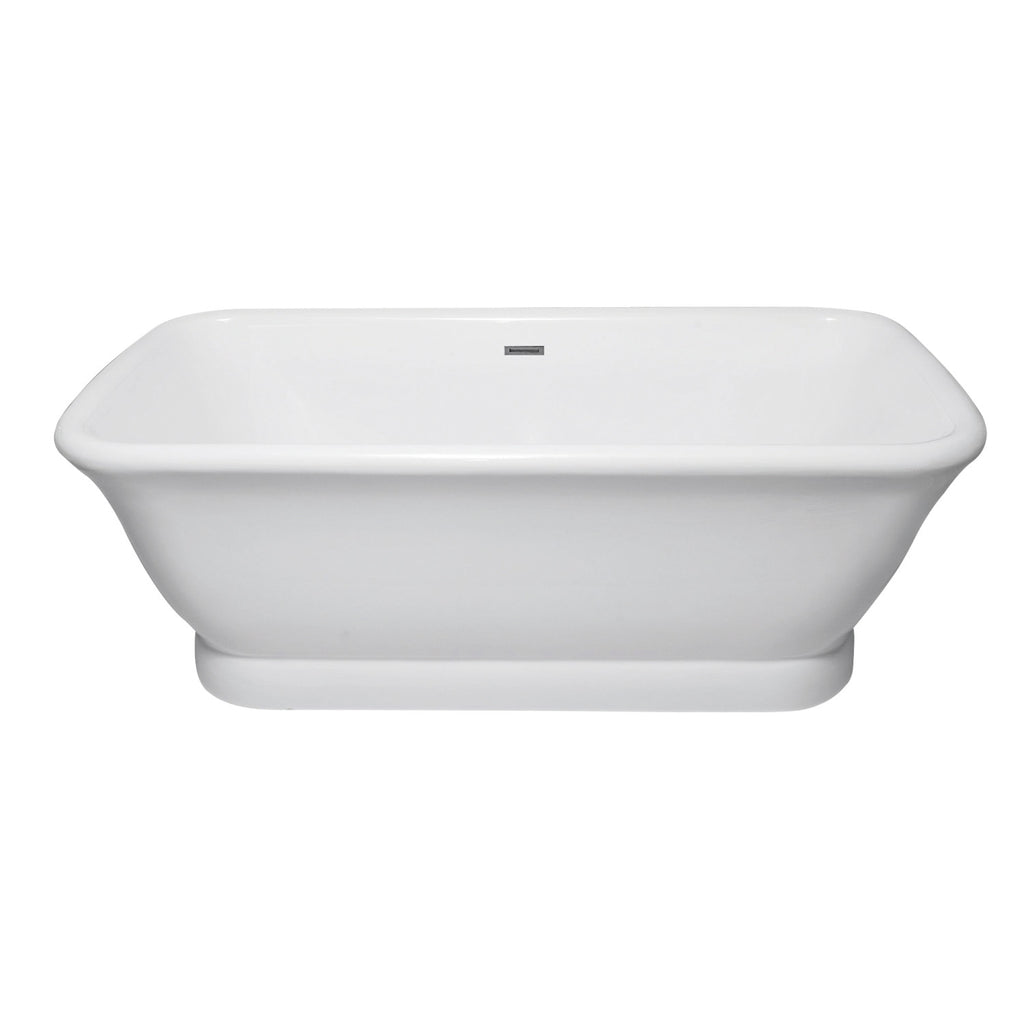 "Aqua Eden 71"" Acrylic Pedestal Double Ended Tub with Drain"