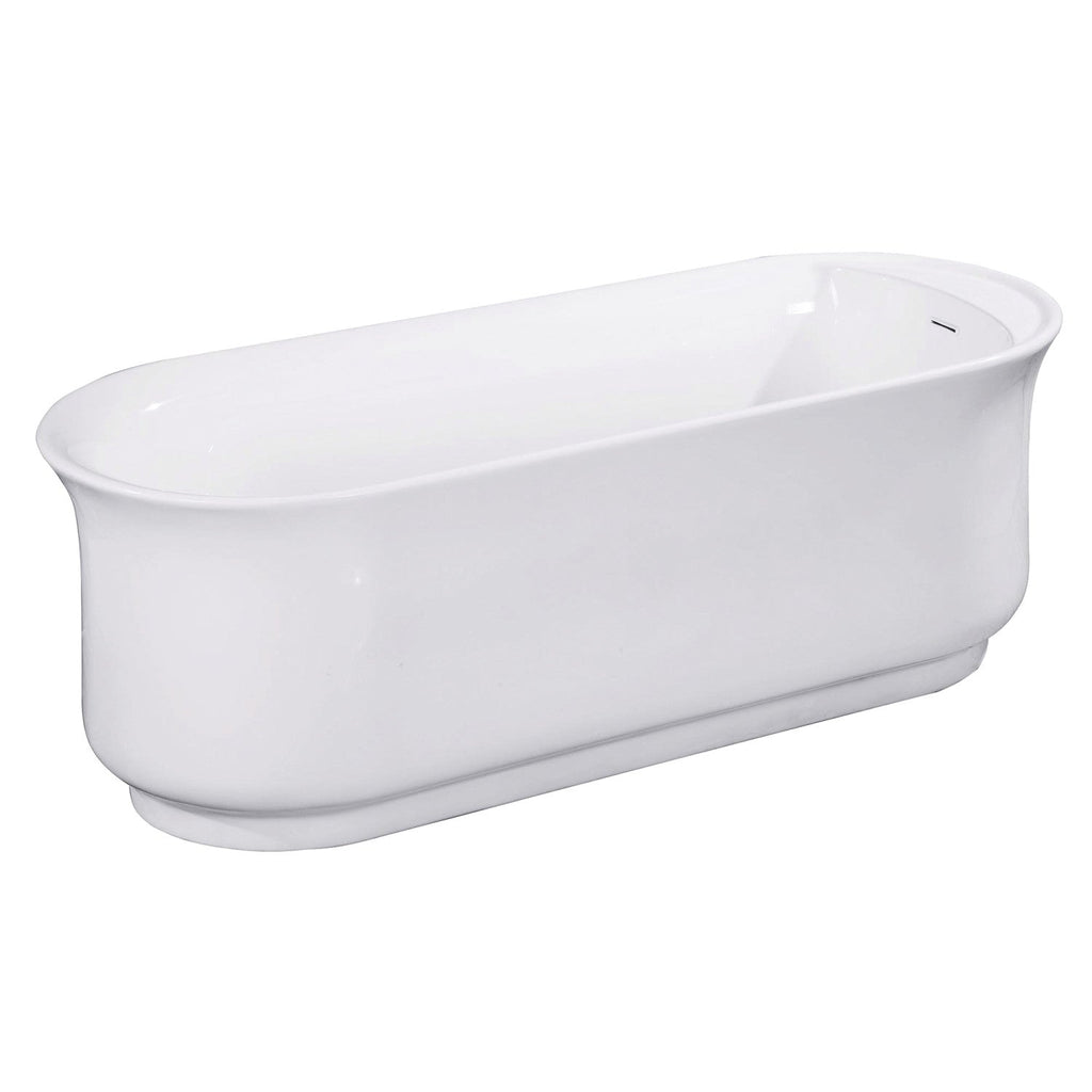 "Aqua Eden 66"" Acrylic Freestanding Double Ended Bathtub with Drain"
