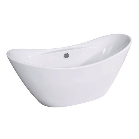 "Aqua Eden 68"" Acrylic Freestanding Double Slipper Bathtub with Drain"
