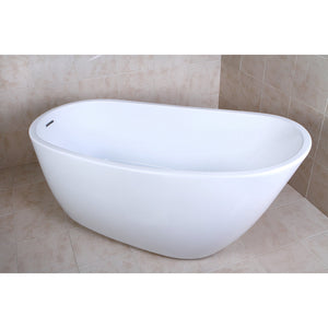 "Aqua Eden 59"" Acrylic Freestanding Single Slipper Tub with Drain"
