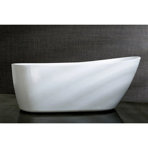 "Aqua Eden 68"" Acrylic Freestanding Single Slipper Tub with Drain"
