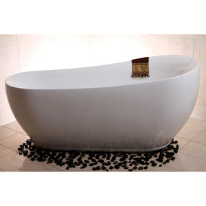 "Aqua Eden 71"" Acrylic Freestanding Single Slipper Tub with Drain"
