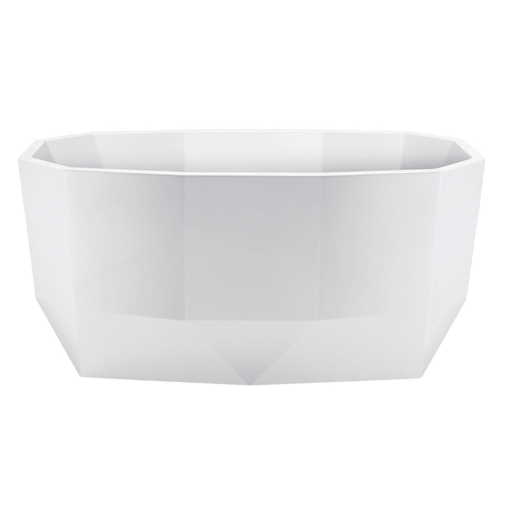 Aqua Eden 59-Inch Acrylic Freestanding Tub with Drain