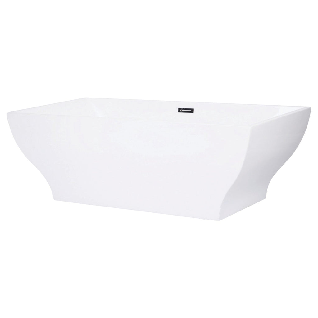 "Centurion 67"" Freestanding Square Acrylic Tub with Drain"