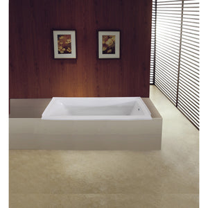 "Aqua Eden 60"" Acrylic Drop In Tub with Reversible Right Hand Drain Hole"