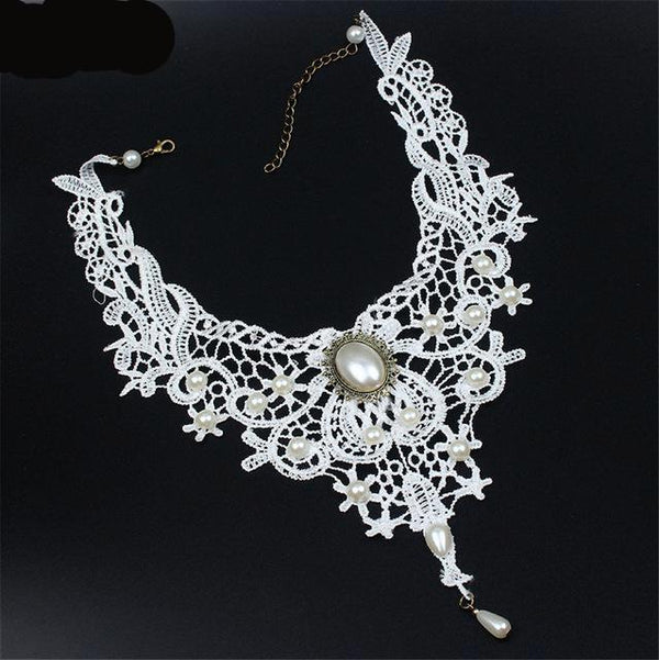 Black&White Lace Necklace