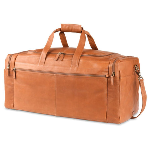 MOSAIC DORADO LEATHER MULTI-POCKET DUFFEL 25""