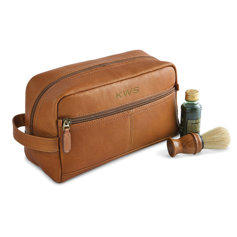Leather shave kit