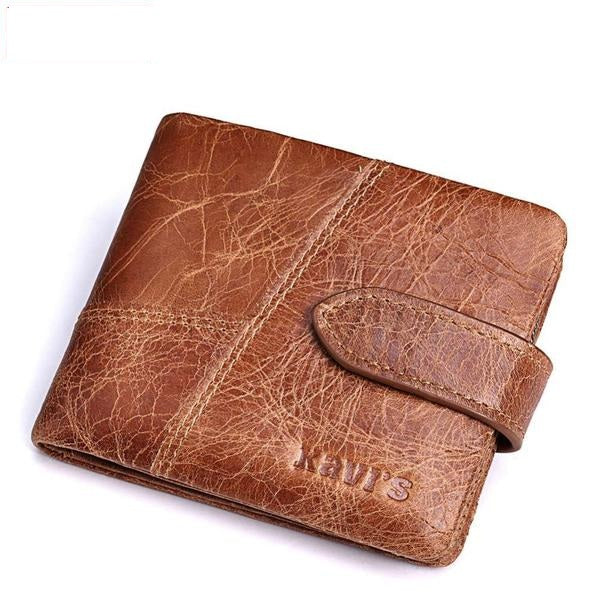 KAVIS Genuine Leather With Coin Zipper, Card Holder Wallets For Men's - Pitchkes.com