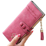 Id Card Holder Leather Wallet For Women - Pitchkes.com