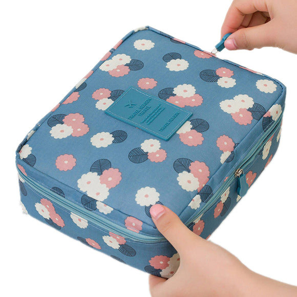 Unique Floral Design Luxury Make Up Cosmetic Zipper Bags For Women - Pitchkes.com