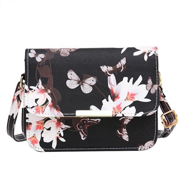 Yogodlns Butterfly Printed, Leather Shoulder Bag For Women - Pitchkes.com