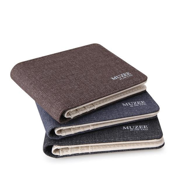 Muzee New Designed Canvas Wallet, Card Holder, Multi Pockets Purse For Men's - Pitchkes.com