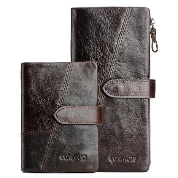 Genuine Leather Cow Long Wallets With Card Holder For Men's - Pitchkes.com