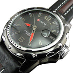 Curren Brown Leather, Waterproof With Straps Watch For Men's - Pitchkes.com