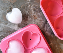 Load image into Gallery viewer, 3D Flexible Silicone Heart Shape Ice Cube Mold Tray