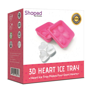 3D Flexible Silicone Heart Shape Ice Cube Mold Tray