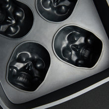 Load image into Gallery viewer, 3D Flexible Silicone Skull Ice Cube Mold Tray