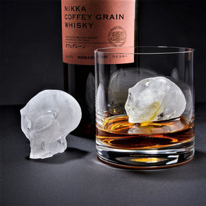 3D Flexible Silicone Alien-Skull Ice Cube Mold Tray