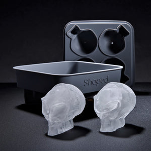 3D Flexible Silicone Alien-Skull Ice Cube Mold