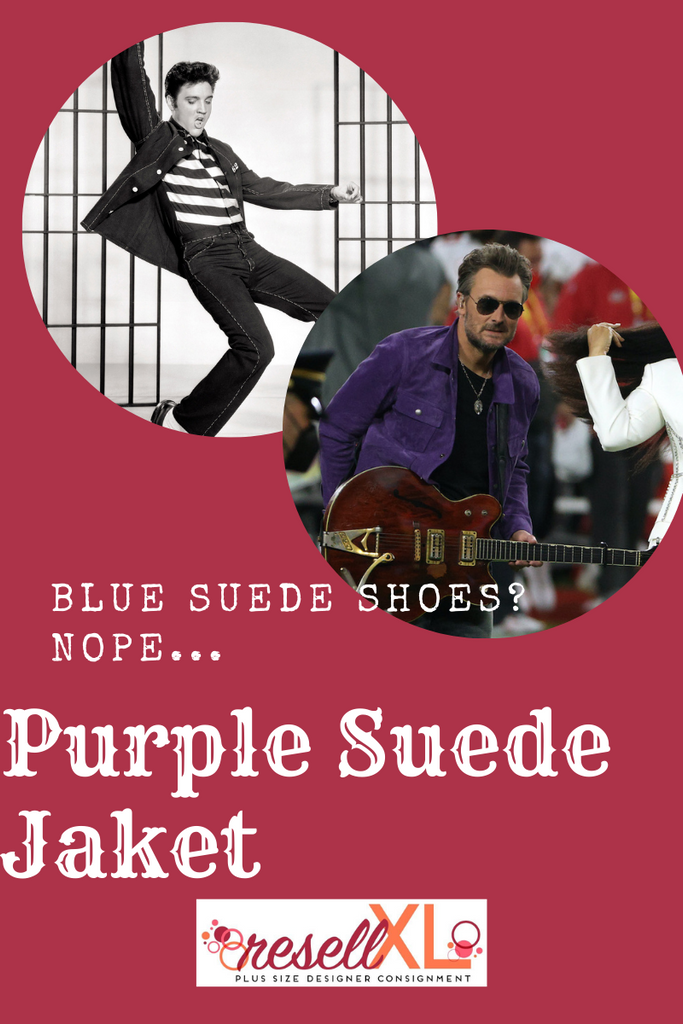 Blue Suede Shoes? Nope, Purple Suede Jacket!