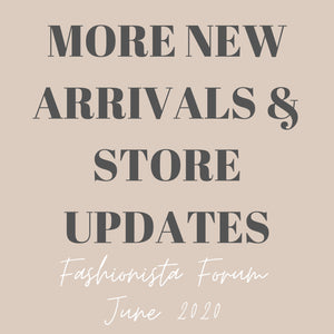 More New Arrivals & Store Updates