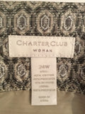 Charter Club Size 24W Gray Geometric Print Skirt