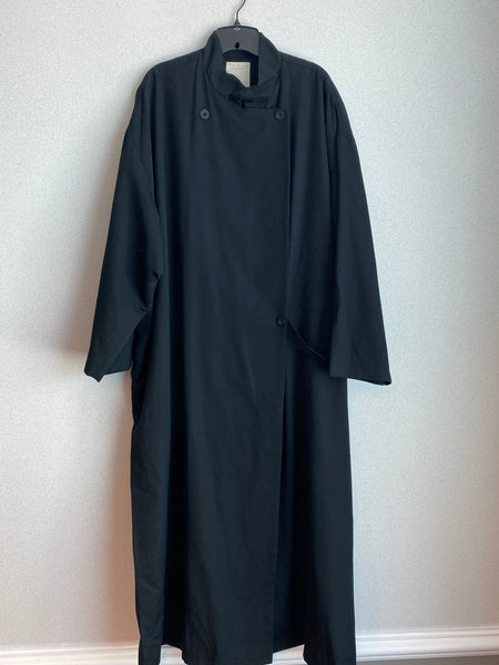 J.Jill Size 4X Black Wool Trench Coat