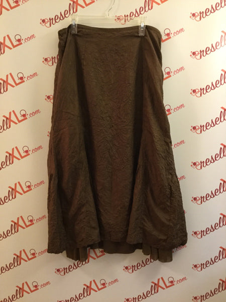 J. Jill Size 16 Brown Crepe Silk Skirt