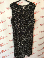 Kenneth Cole Size 2X Black Dress with White Polka Dots