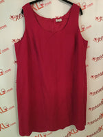 Tahari Size 18W Pink Linen Blend Dress