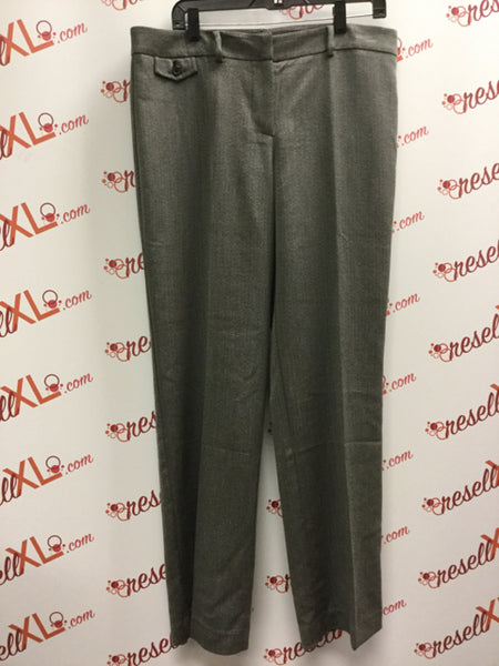 Jones New York Grey Herringbone Trousers Size 14 NWT