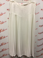 Surang New York White Size XL White Pleated Skirt
