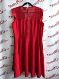 City Chic Size 18 Red Dress with Crochet Neck (NWT)