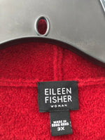 Eileen Fisher Size 3X Red Wool Jacket