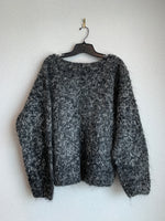 Ellen Tracy Size L Black Mohair Wool Blend Sweater