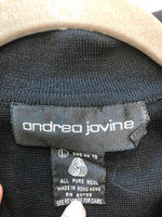 Andrea Jovine Size Large Black Wool Sweater