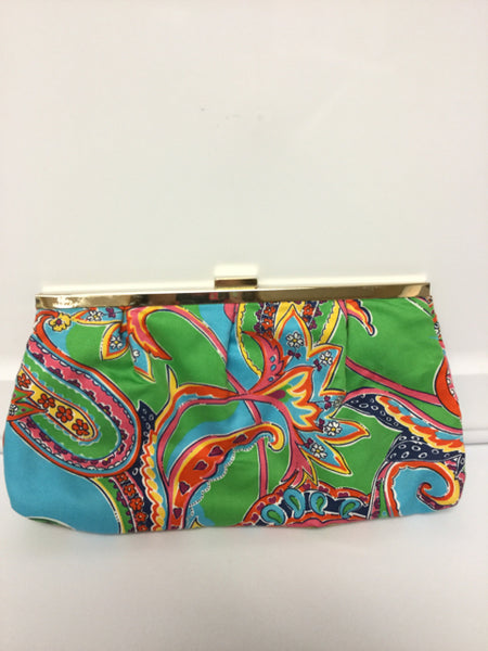 Lilly Pulitzer Small Fabric Clutch Handbag