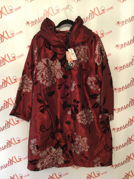 NWT!! TS by Taking Shape  Size 14 Red Floral Jacket