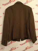 Anne Klein Size 16  Brown Blazer in Chevron Print