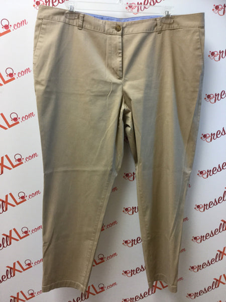 "Talbots Size 18W Dark Khaki ""Weekend Chino"" Pants"
